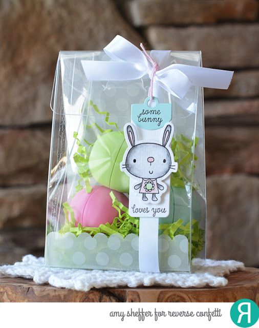 Best 25 clear gift bags ideas on pinterest cookie packaging easter gift bag by amy sheffer reverse confetti stamp set and coordinating confetti cuts negle Choice Image