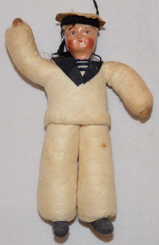 Ёлочная игрушка: Морячок (или Матросик)