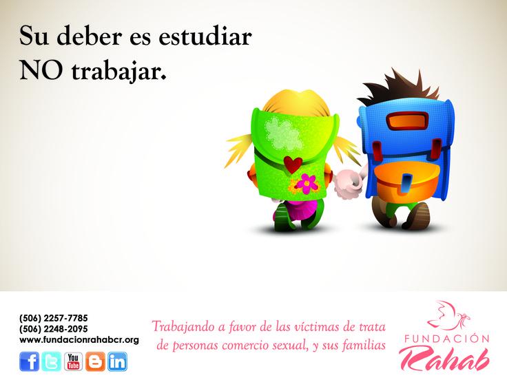 Publicación para redes sociales por el Día Internacional Contra el Trabajo Infantil en el 2012.