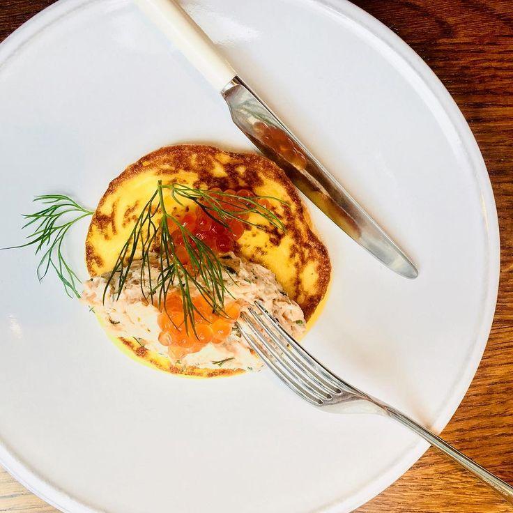 Pancake Day at Aster, London Victoria. David Mellor's elegant Pride cutlery range - the perfect cutlery for this beautiful restaurant. #pancakes #pancakeday #davidmellor #cutlery #flatware