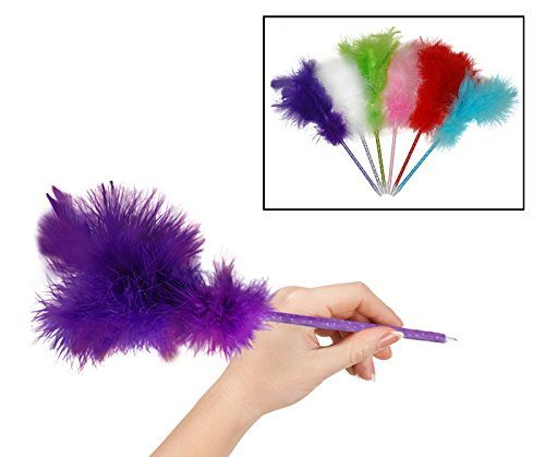 Feather Pen - Fancy Ballpoint Writing Novelty Pens - Fun ... https://www.amazon.com/dp/B01B6ZNQ76/ref=cm_sw_r_pi_dp_x_y48-xbE2K5JZE
