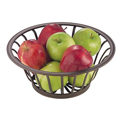The mDesign Fruit Bowl was designed with style and function in mind. Protect delicate fruit from bruising and always have a snack at hand. This large fruit bowl holds your apples oranges bananas and...