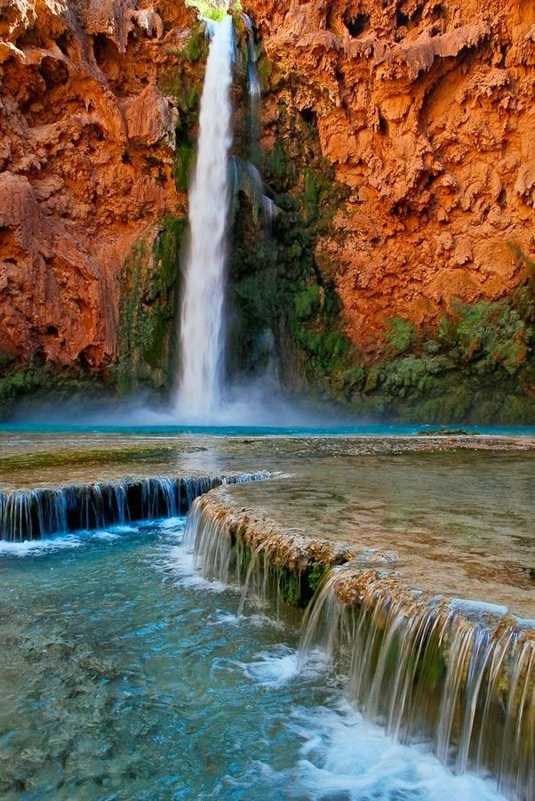 Mooney Falls - Havasupai, Arizona
