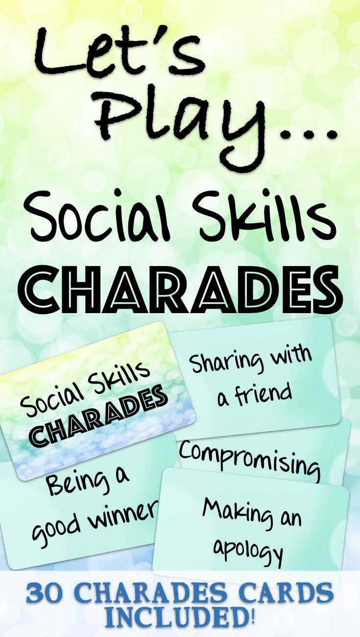Teach Assess Practice Social Skills Social Skills Charades Social Skills Teaching Social Cues