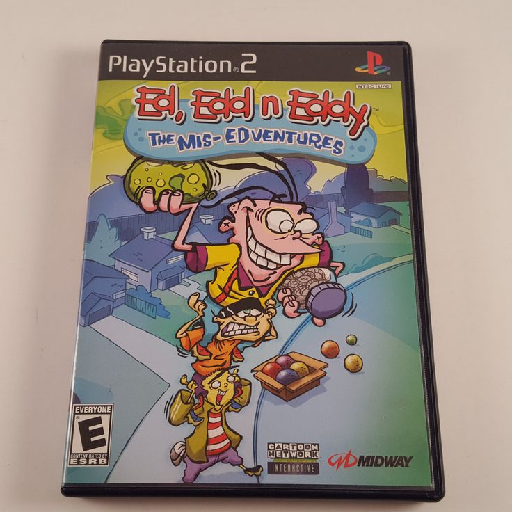 ED EDD N EDDY THE MIS-EDVENTURES PLAYSTATION 2 PS2 COMPLETE! FREE SHIPPING!!