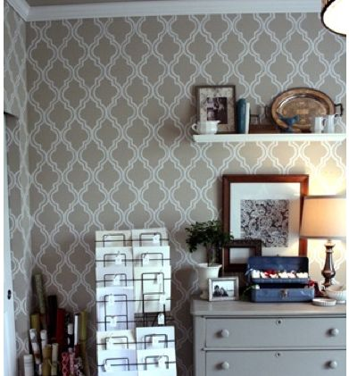 Quatrefoil Wall Stencil DIY With Printable Template And Tutorial From Jones Design Company