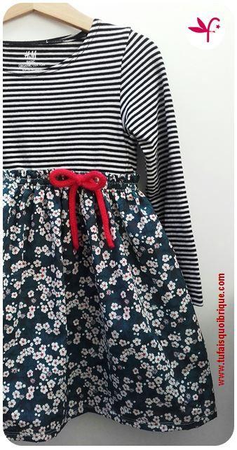 Tu fais-quoi-brique maman?: La robe tee-shirt.... version taille empire!