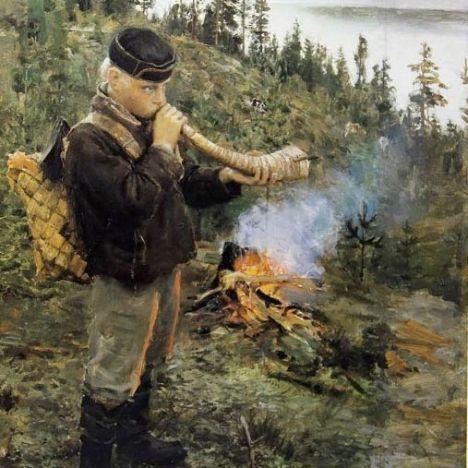 Akseli Gallen-Kallela Paanajärven paimenpoika, 1892 © Private collection