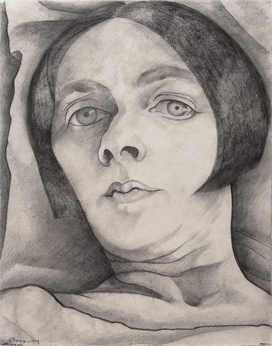 Charley Toorop | Autoportrait | 1929 Crayon | 320 x 259 mm | © Ad Petersen, Amsterdam