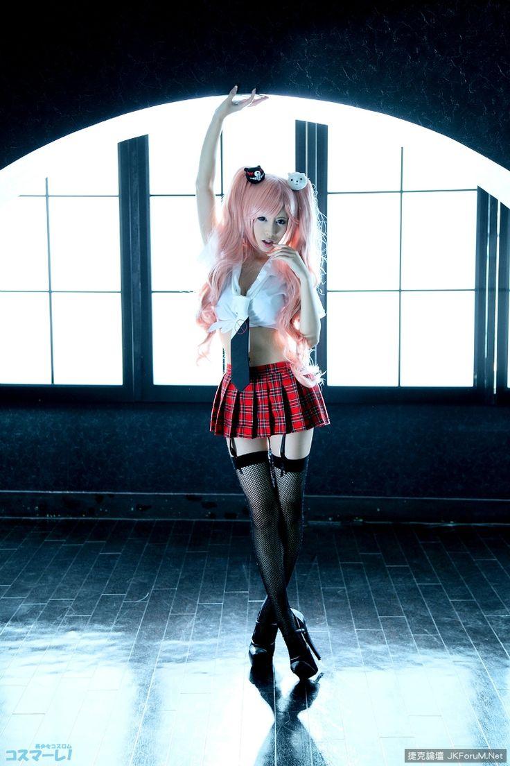 Anime Ero Cosplay,Anime Cosplay,Anime,аниме,Junko Enoshima,Enoshima Junko,Danganronpa,Dangan Ronpa,cosplay