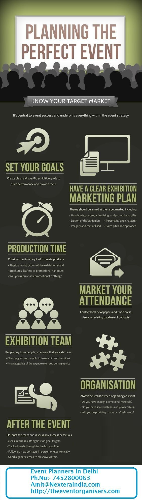 Description fundraising infographic Event Planners in
