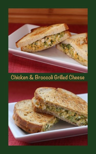 Chicken & Broccoli Grilled Cheese - turn your grilled cheese sandwich into a full meal by packing it with a cheesy chicken & broccoli filling | cupcakesandkalechips.com #chicken #broccoli #grilledcheese #glutenfree
