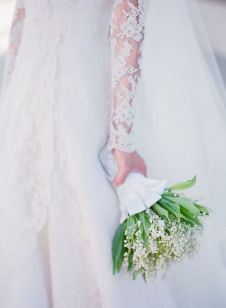 Our florist, Nisie, created the most beautiful and simple lily of the valley bouquet.