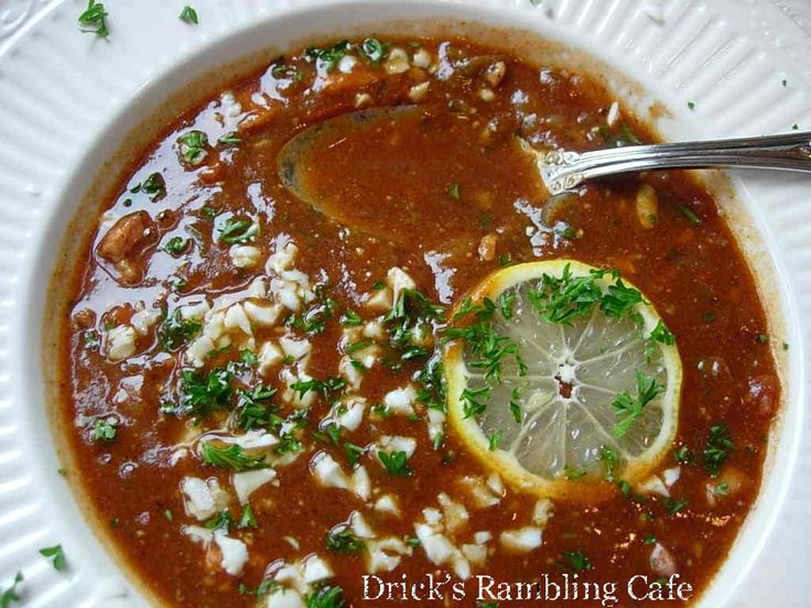 TURTLE STEW | Drick's Rambling Cafe: Classic Creole Turtle Soup