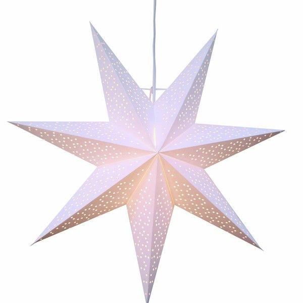 Závěsná svítící hvězda Best Season Dot Snow, 54 cm