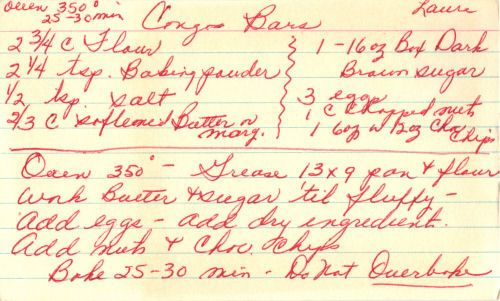 a site that collects old cookbooks, hand written recipes, newspaper clippings etc. They are all vintage, but if youve been looking for something grandma used to make, I bet they will have it.