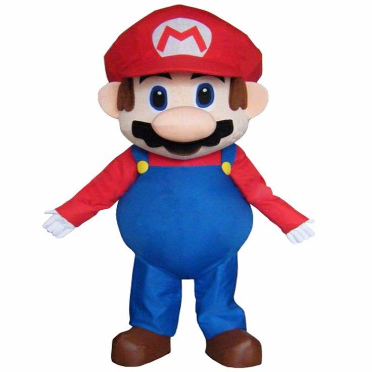 Large luxury Super Mario Bros. mascot costume adult beautiful evening dress suit