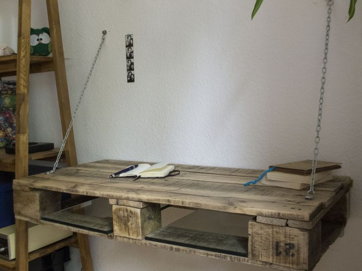 Möbel aus Paletten #Schreibtisch #DaWanda #DIY