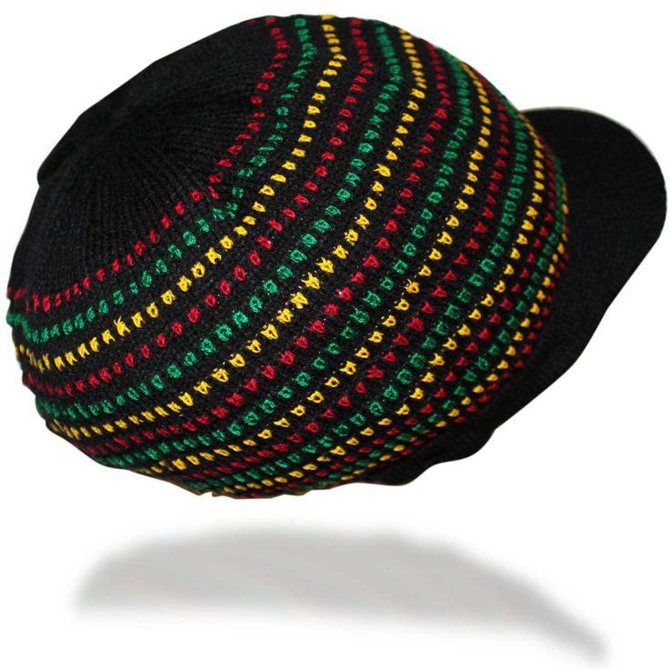 Jamaica Dreadlocks Rasta Hat Cap Marley Crown Reggae Selassie Roots Africa L/XL