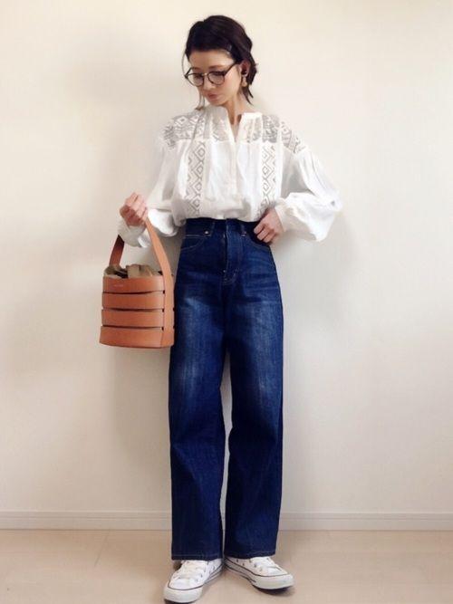 MOUSSYのシャツ・ブラウス「LACE COMBI BLOUSE」を使ったnonのコーディネートです。WEARはモデル・俳優・ショップスタッフなどの着こなしをチェックできるファッションコーディネートサイトです。