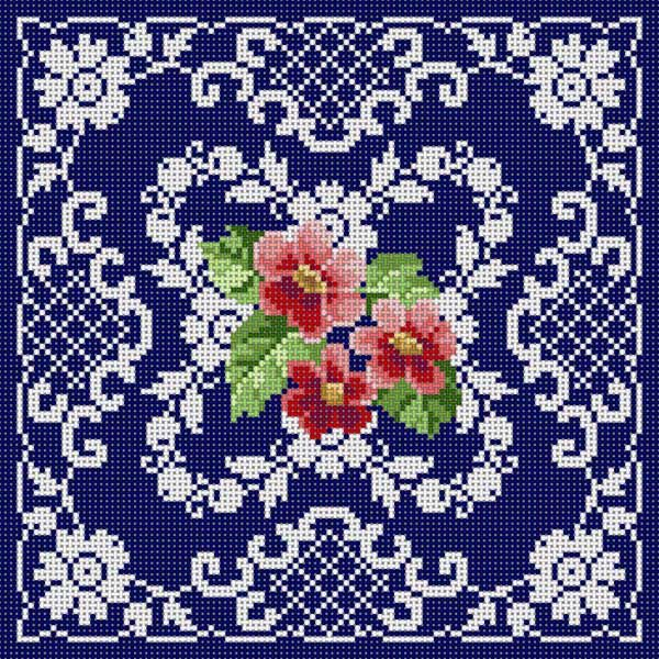 Flowers & Lace On Blu