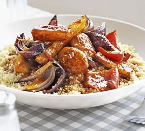 Five-a-day tagine (replace honey with agave nectar)