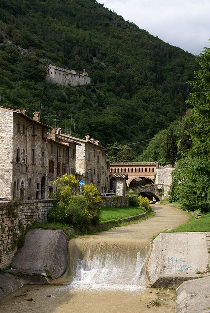 Gubbio, Umbria, Italy - Via del Camignano
