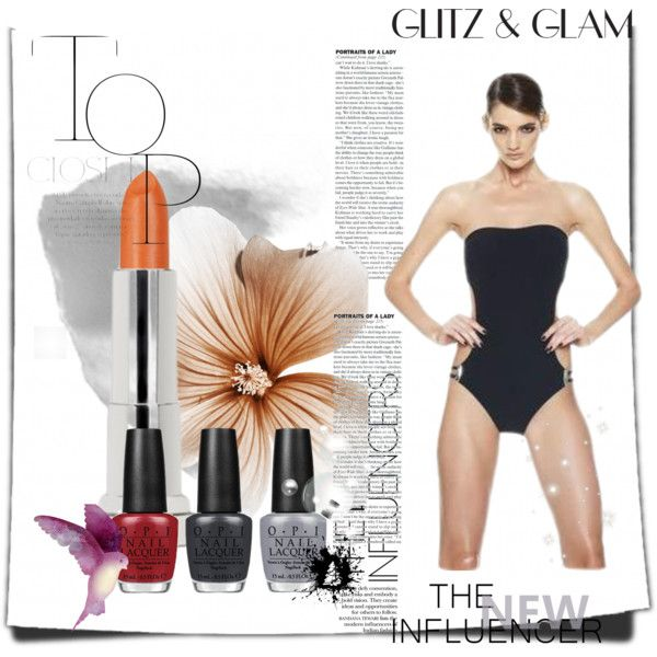 swimwear set by amaexclusive on Polyvore featuring moda and Maybelline