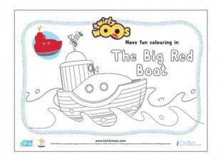 Little ones can colour in the Big Red Boat. Where will he sail?