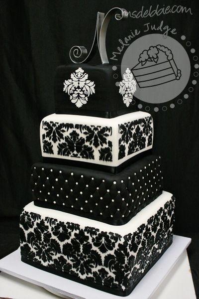 Wedding Cakes That Are Black | ... Black Wedding Cakes Damask Black & White Wedding Cake – Wedding