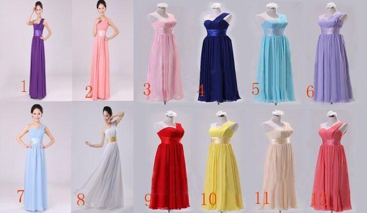 Free shipping 12 Color Woman The Single shoulder bridal formal dress toast oblique long design formal dress $28.88