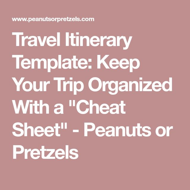 The 25+ Best Travel Itinerary Template Ideas On Pinterest | International  Travel Tips, Trip Planning And Itinerary Sample