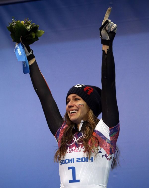 """#Sochi2014 AMERICAN NOELLE PIKUS-PACE WINS SILVER IN WOMEN'S SKELETON RACING! Noelle Pikus-Pace of the United States came out of retirement after becoming a mother to race again. The Silver medalist announced her re-retirement moments after winning the only medal for #TeamUSA on Day 9.  """"I want to join the PTA. I want to bake cookies. I want to plant a big garden,"""" she said. """"I want to be at home and do the things I love.""""  2/14/14 #EPIC"""