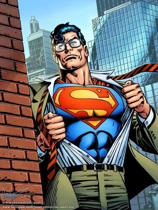 Clark / Superman by Kerry Gammill (pencils) & Garcia-Lopez (inks) and colors by Jason Millet