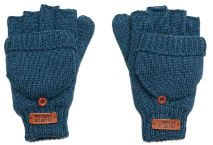 Fingerless gloves that can be easily converted into mittens.