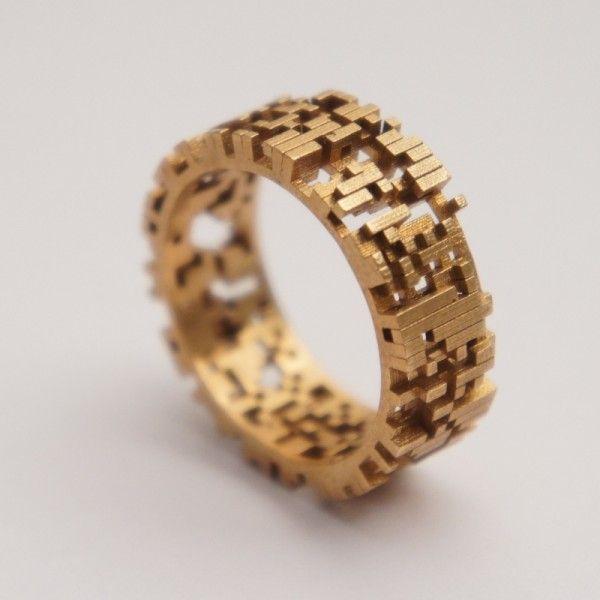 3d printed and brass casted jewellery created by studioluminaire Schmuck im Wert von mindestens   g e s c h e n k t  !! Silandu.de besuchen und Gutscheincode eingeben: HTTKQJNQ-2016