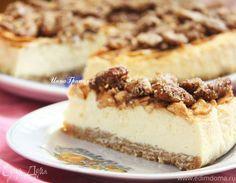 Чизкейк с корицей, яблоком и сахарным пеканом  Ингредиенты для сырной части пирога должны быть комнатной температуры. Чизкейк получается очень большой, поэтому, возможно, вам потребуется сократить ингредиенты сырной части напополам. #едимдома #чизкейк #торт #выпечка #десерт #рецепты #кулинария #вкусно #чаепитие