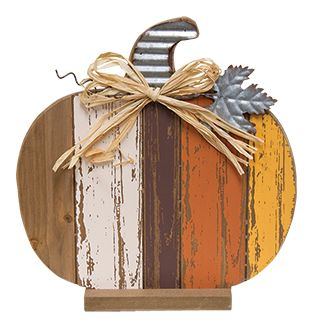 KP Creek Gifts - Harvest Slat Pumpkin, 11""