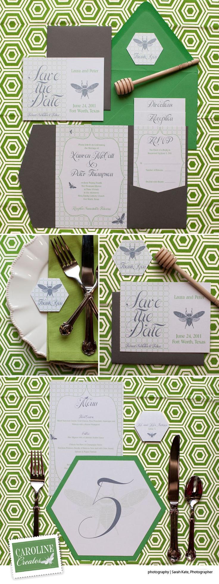 Dallas Fort Worth custom wedding invitations by