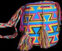 BLUE WAYUU BAG – COLORFUL DESIGN # 14 #Handbags #crochetPatterns #backpack #boho #fashion #Mochila #Bolsa #Yoga #Crochet #Knit #yarn #moda #mode #handbag #streetstyle #bucketbag #LaGuajira #crochet #bagbeach #style #artesanias #indigenous #wayuupeopple