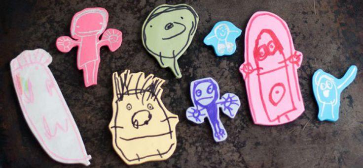 Zo kun je alle kindertekeningen op creatieve wijze bewaren