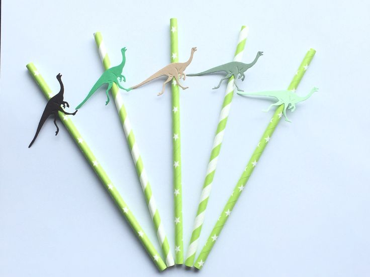 A personal favourite from my Etsy shop https://www.etsy.com/uk/listing/542307436/dinosaur-party-straws-dinosaur-straws