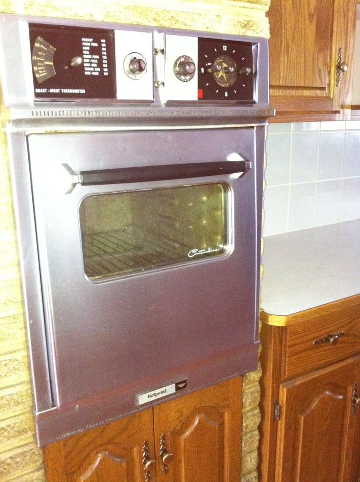 My 1958 Hotpoint Custom Line Wall Oven Old Retro House