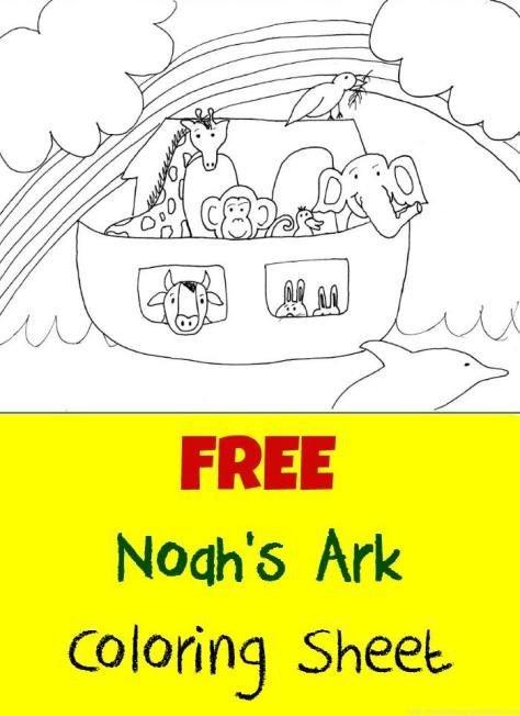 FREE Coloring Page For Noahs Ark