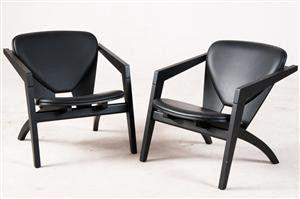 Hans J. Wegner, pair of lounge chairs GE-460 Butterfly Chair for Getama   DesignAddict