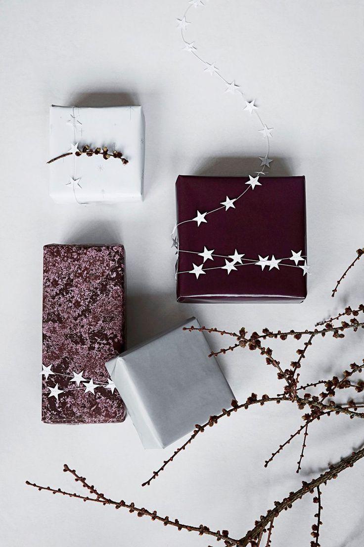 Star Christmas gift wrap.