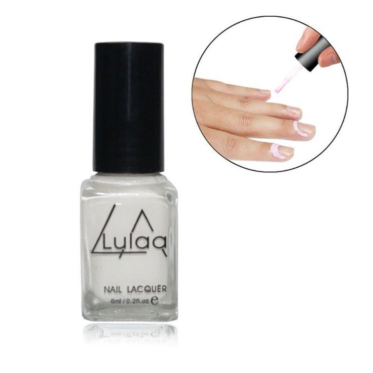 Peel Off Cair nail art Pita Lateks jari perawatan kulit dilindungi Palisade Mudah bersih Base Coat cat kuku Putih/merah muda
