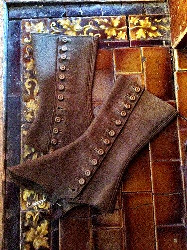 Antique Victorian or Edwardian  Spats Steampunk