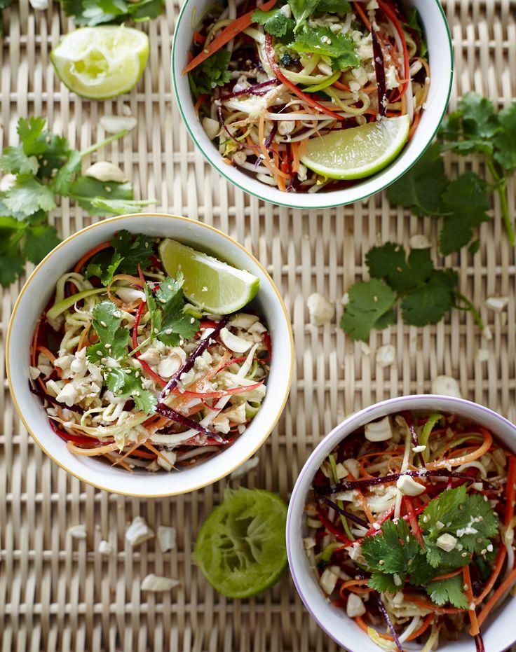 rainbow pad thai salad43288