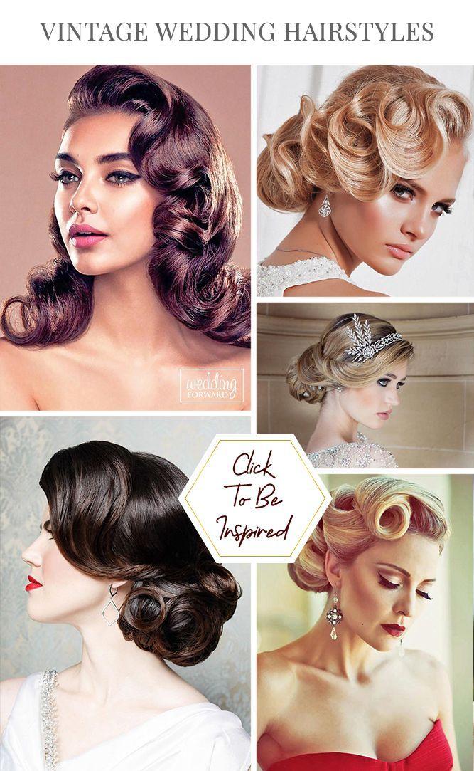 Utterly Chic Vintage Wedding Hairstyles Retro Wedding Hair Vintage Wedding Hair Rustic Wedding Hairstyles